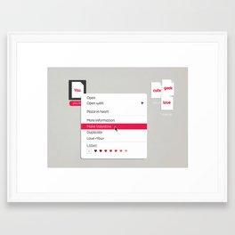 Make Valentine Framed Art Print
