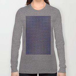blue square Long Sleeve T-shirt