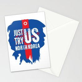 North Korea better not test the USA Stationery Cards