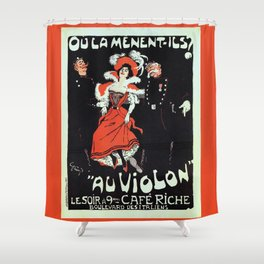 To jail Paris nightlife 1897 Shower Curtain