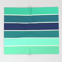 Stripes Aqua & Teal  Throw Blanket