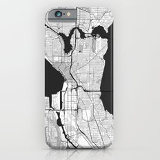 Seattle Map Gray Slim Case iPhone 6