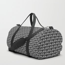 WTF Where is The FUN / Black and white text pattern Duffle Bag