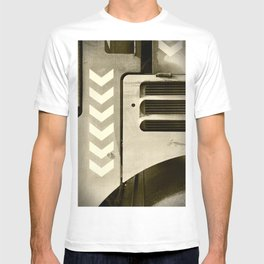 Road Roller Chevron 05 - Industrial Abstract T-shirt