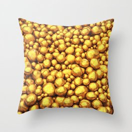 Raw gold Throw Pillow