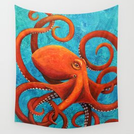 Holding On - Octopus Wall Tapestry