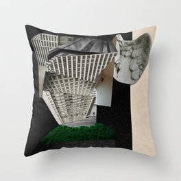 The Tower: Babel in Space Throw Pillow