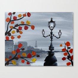 Parisian Lamp Post Canvas Print