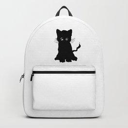 sweet black kitten digital painting Backpack