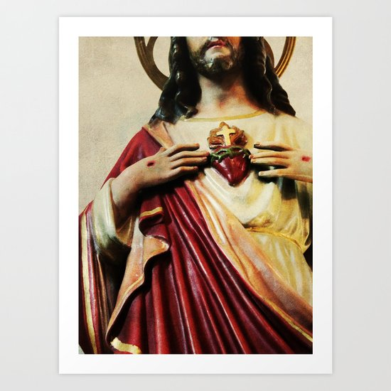 His Heart Art Print