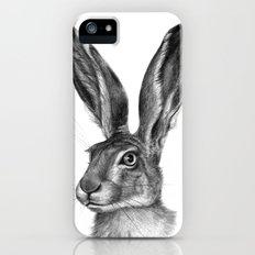 Cute Hare portrait G126 Slim Case iPhone (5, 5s)