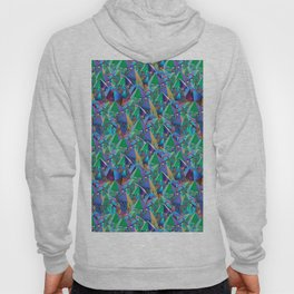 Crystal Shards in Oil Slick Rainbow Aura Hoody