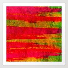 FIERCE - Intense Wild Nature Masculine Stripes Abstract Watercolor Painting Design Urban Fine Art Art Print
