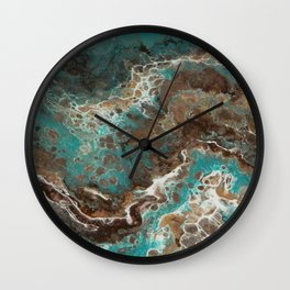 Water Flow, Abstract Acrylic Flow Art Wall Clock