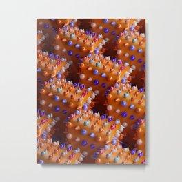 Spheres and Cones Pattern Metal Print