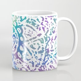 Heart Flower Blue Coffee Mug