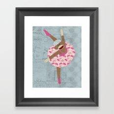 Sock Monkey Ballerina Framed Art Print