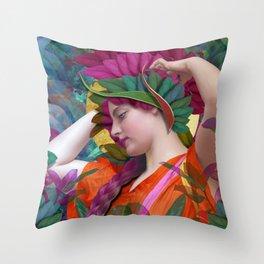 Pallas Athena Botanical Throw Pillow