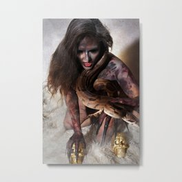 Snake Charmer Metal Print