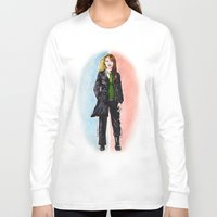 fringe Long Sleeve T-shirts featuring 2 OLIVIAS DUNHAM (FRINGE) by Dianah B