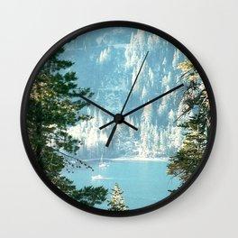 Lake Tahoe Through the Trees Wall Clock