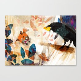 The Raven nad the Fox Canvas Print