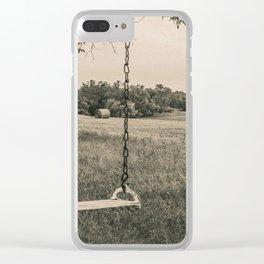 Swingset at the Church, North Dakota 6 Clear iPhone Case