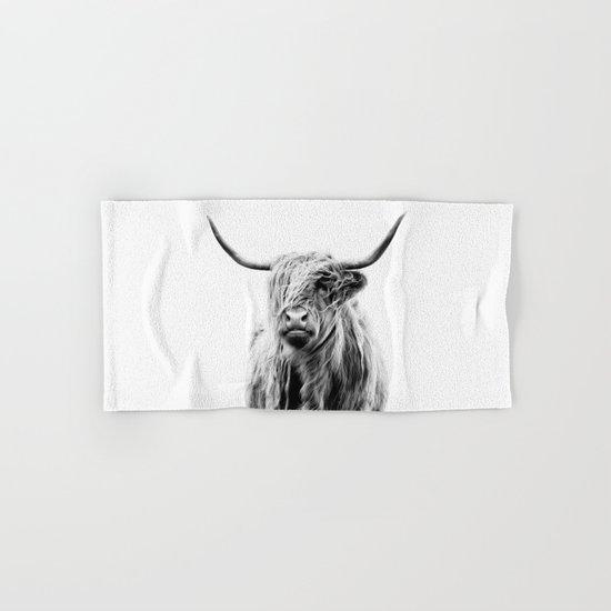 portrait of a highland cow Hand & Bath Towel