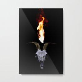 Infernal Goat Skull Metal Print