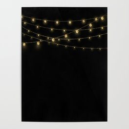Gold rich Glitter Chain- Treasure Sparkle Poster