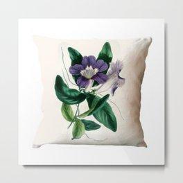 Flower Print Cushion Cover Metal Print