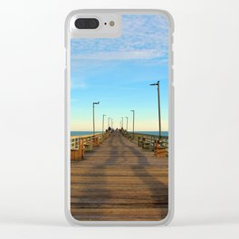 Afternoon On The Pier Clear iPhone Case