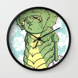 The Sadness Of The Creature Wall Clock