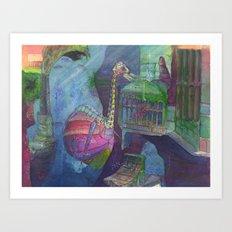 Ostridge Submersible Art Print