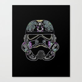 Day of the dead Storm Trooper head Canvas Print