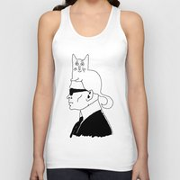 karl Tank Tops featuring Karl & Choupette by cvrcak