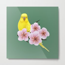 Yellow Budgerigar Metal Print