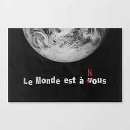 La Haine - Le monde est a nous Canvas Print