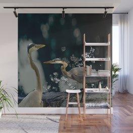 Great blue herons Wall Mural