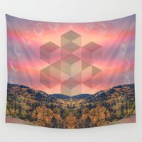 moon phases Wall Tapestries featuring Phases by Rachel Thornton