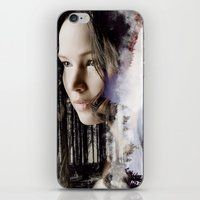 katniss iPhone & iPod Skins featuring katniss by phoebe-designs