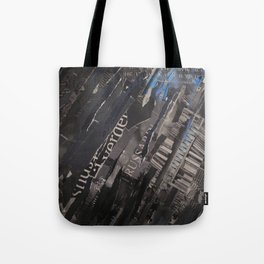 collage black and blue Tote Bag