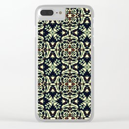Tribal Clover Clear iPhone Case