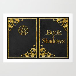Black Book of Shadows v2 Art Print