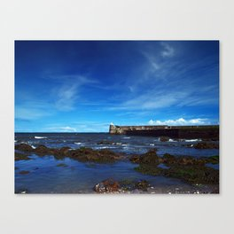 Burnmouth Harbour Canvas Print