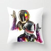 daft punk Throw Pillows featuring Daft punk  by beart24