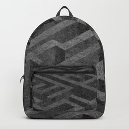 The Maze ᐅ Charcoal drawing ᐅ Black & white drawing ᐅ Path of life Backpack