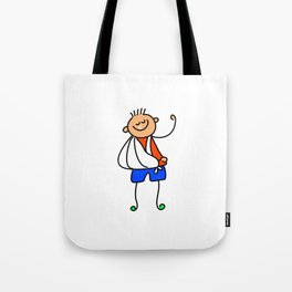 Accident Kid Tote Bag