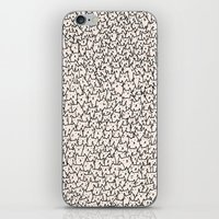 solid color iPhone & iPod Skins featuring A Lot of Cats by Kitten Rain