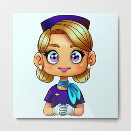 "Flight Attendant: ""Dee"" Metal Print"